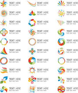 Set of beautiful vector logo graphics material A Set Of Beautiful Vector Logo Graphics Material