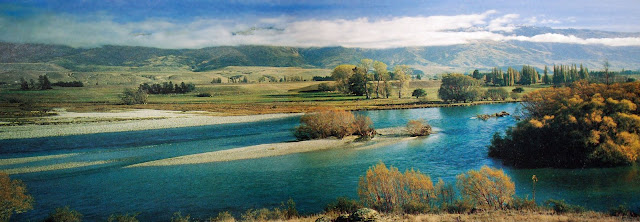 Clutha River, Lowburn area before the Clyde dam