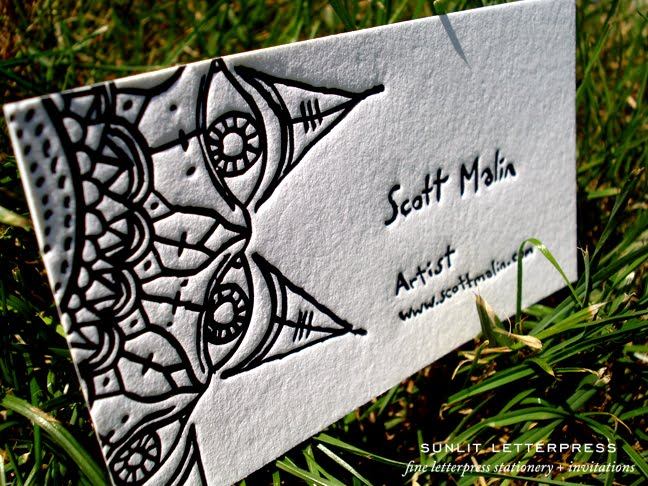 Adventures in letterpress fine letterpress stationery custom custom letterpress business cards for artist reheart Gallery