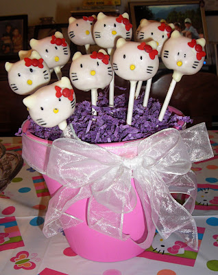 Hello Kitty Birthday Decor (Pink, Purple & White Balloons). Happy 1st