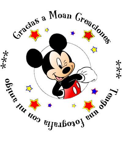 Invitaciones infantiles con fotomontaje de Mickey Mouse