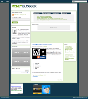 Money Blogger Template