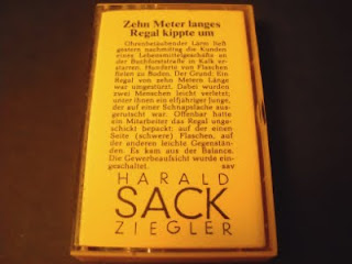 HARALD SACK ZIEGLER-ZEHN METER LANGES REGAL KIPPTE UM, TAPE, 1990, GERMANY