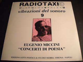 EUGENIO MICCINI-CONCERTI DI POESIA, LP, 1983, ITALY
