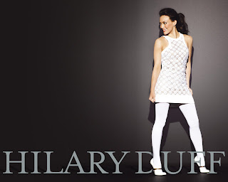 American actress and singer-songwriter Hilary Duff