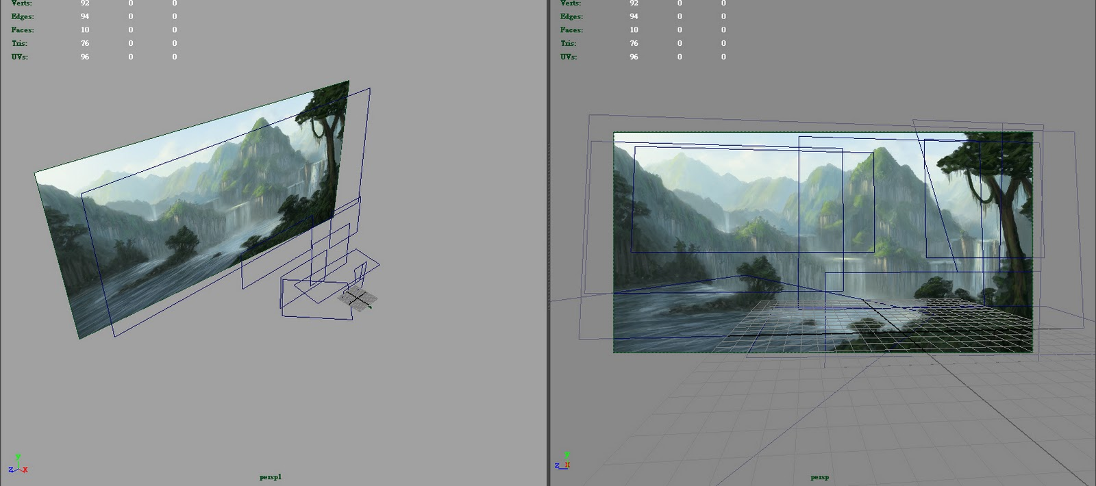 Learning concept art and matte painting here are some screen shots from my maya scene baditri Gallery