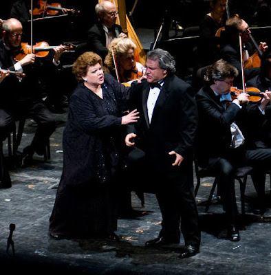 Dolora Zajick and Salvatore Licitra in Cavalleria Rusticana, Washington National Opera, photo by Leah L. Jones
