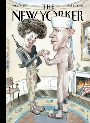 Barry Blitt, The Politics of Fear, cover of The New Yorker (July 21, 2008)