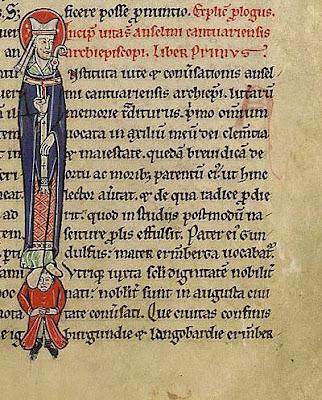 Manuscript Vita of St. Anselm, detail