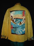 """Tribute to Hiroshige"" Needle-felted Jacket"