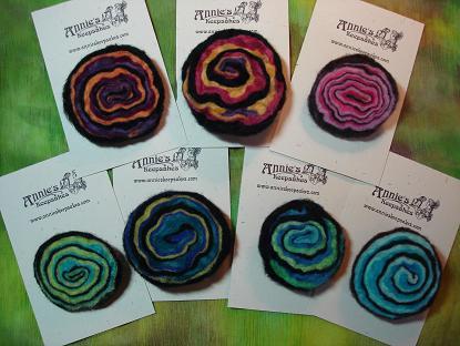 Wool Geode Pins