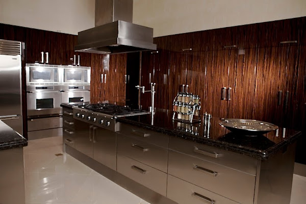 friends Those gleaming cabinets are made from African macassar ebony