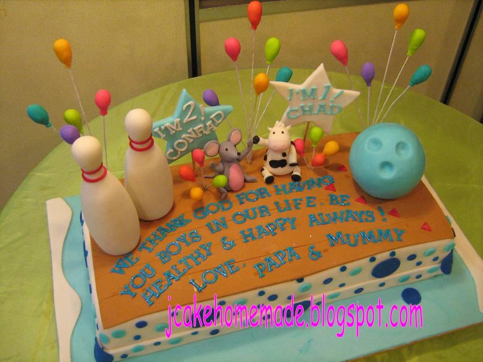 Bowling Nd Birthday Cake