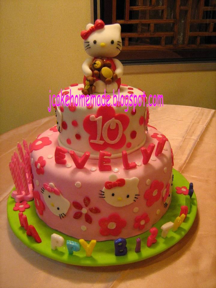 Adem Ayem homemade hello kitty birthday cake