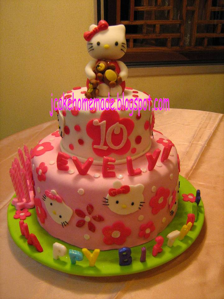 Homemade Hello Kitty Birthday Cake Image Inspiration of Cake and