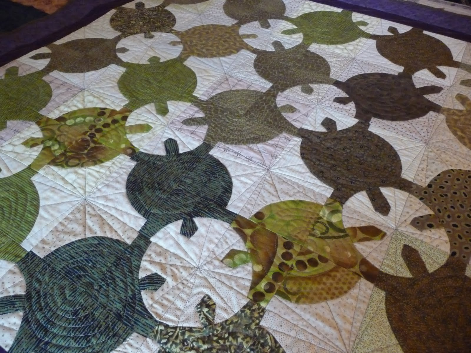Little Tiny Piranha: Turtle quilt: template