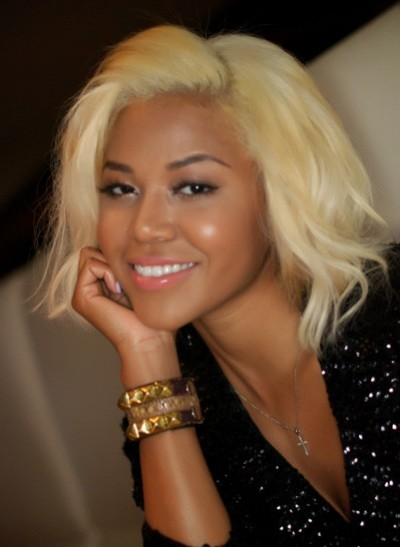 black girl with blond hair