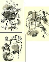 tres ilustraciones de David Rodríguez