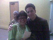En el aula magna de la UCV, con Edison Ruiz en una de sus visitas a Venezuela.