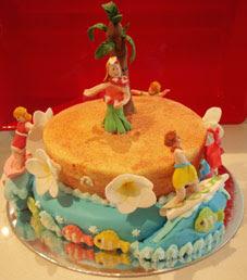 hula surfing cake