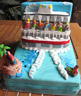 farewell boat cake