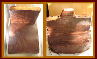 ganache covered cake
