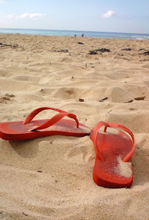 havaianas on beach