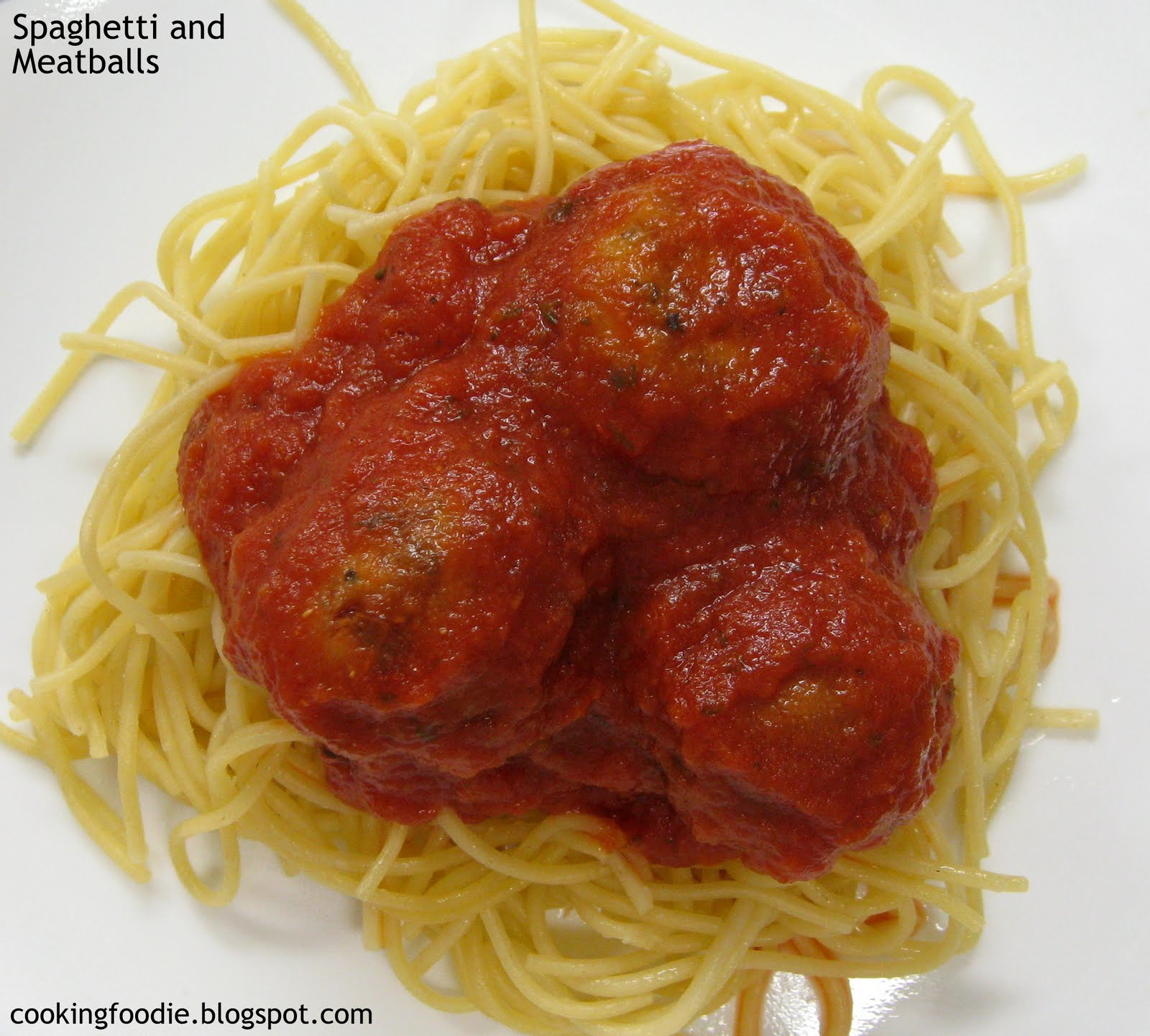 365 days of Eating: Spaghetti and Meatballs - the vegetarian version