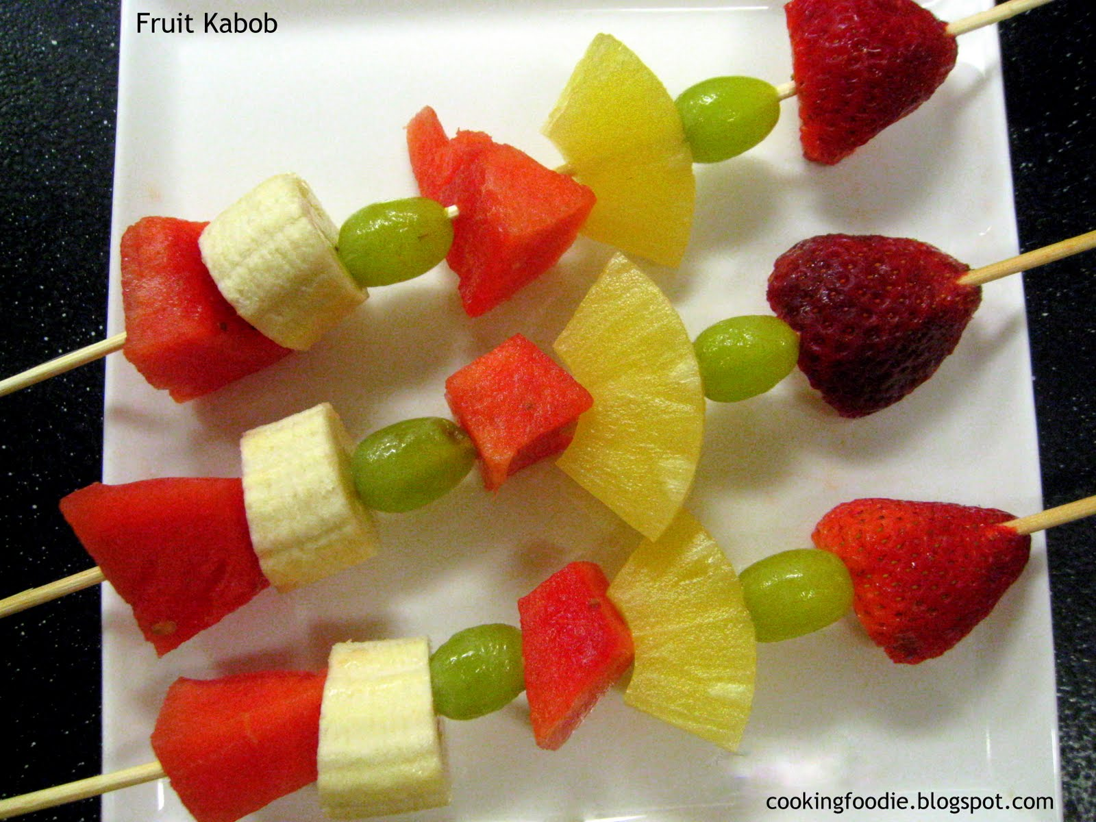 Fruit Kabobs at Pool Party