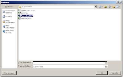 Suplementos, Excel, vba, atalho, ajuda