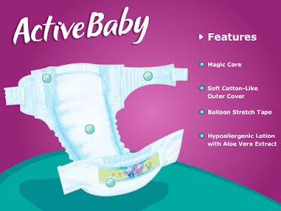 Pampers ActiveBaby Diaper