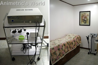 RF slimming treatment machine / treatment room