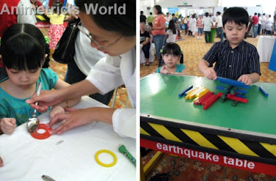 Magnetic experiment with Gakken and Museo Pambata's Earthquake Table at Skycable's Amazing World of Science