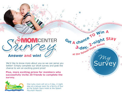 Mom Center's survey promo