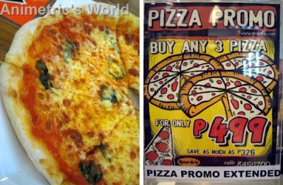 Margherita Pizza and Pizza Promo flyer at Gourdo's