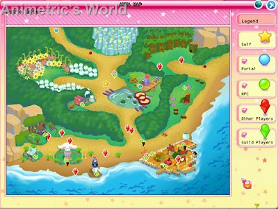 Hello Kitty Online game map
