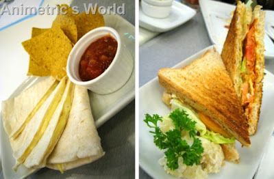 Cheese Quesadilla and Grilled Chorizo and Cheese Sandwich at Goodies n' Sweets