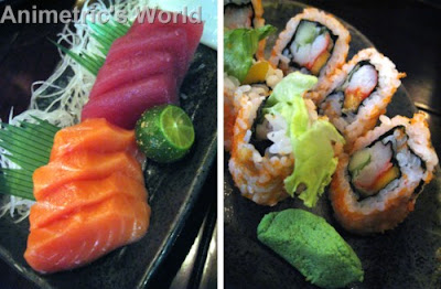 Moriawase - assorted sashimi and California Maki at Yaku Japanese Grill