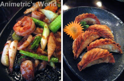 Seafood Teppanyaki and Age Gyoza at Yaku Japanese Grill
