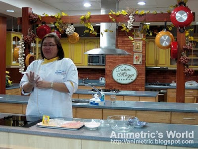 Chef Tess Sutilo of Nestle Philippines at the Julius Maggi Kitchen