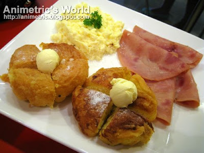 Grilled Ensaymada with Farmer's Ham at Red Ribbon