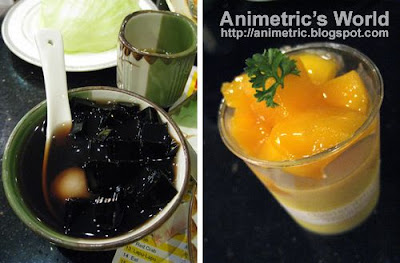 Grass Jelly with Lychee and Mango Mousse at Tao Yuan Restaurant