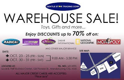 Gentle Star Trading Corporation's warehouse sale schedule and location map