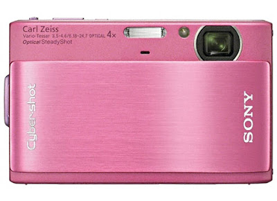 Sony Cybershot TX-1 digital camera in pink
