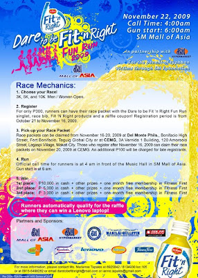 Dare to be Fit 'n Right Fun Run 2009