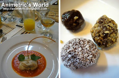 Braised Cabbage Rolls in Tomato Basil Sauce and Chocolate Truffles at AICA The Academy for International culinary Arts