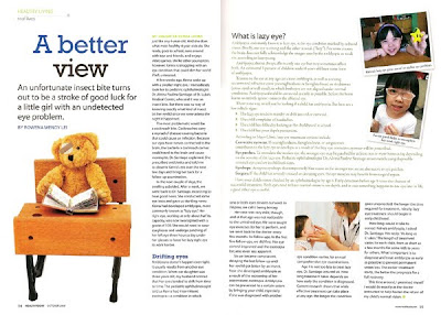 A Better View by Rowena Wendy Lei for Health Today Magazine October 2009