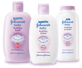 Johnson's Baby Bedtime Product Line