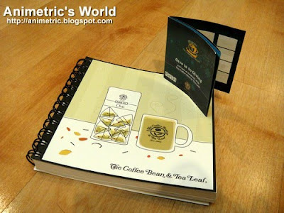 The Coffee Bean and Tea Leaf Giving Journal and stamp card