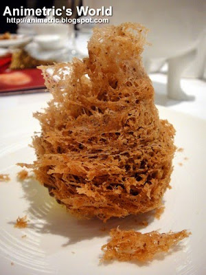 Deep friend taro puff with dried scallop at Shang Palace